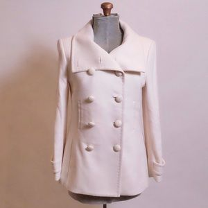 Wilfred Aritzia Wool Cream White Button Up Coat